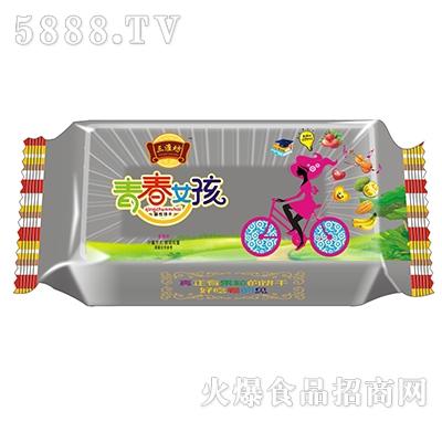 三淮坊青春女孩草莓味酥性饼干