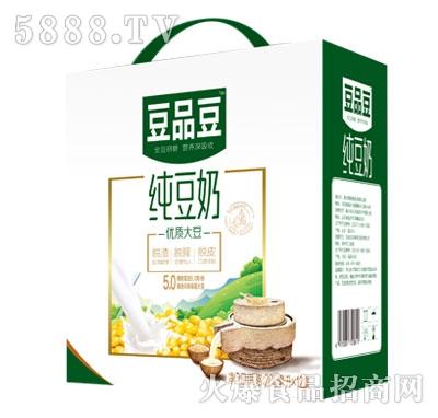 豆品豆纯豆奶200mlX12盒