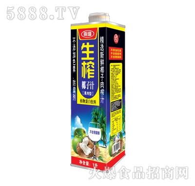 雨瑞生榨椰子汁果肉型1L