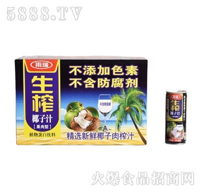 雨瑞生榨椰子汁果肉型240ml