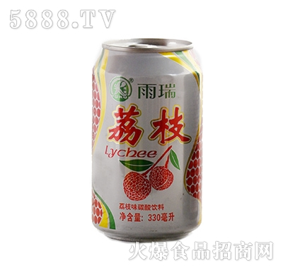 雨瑞荔枝味碳酸饮料330ml