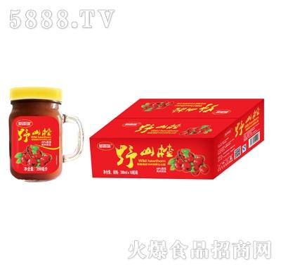 新雨瑞野岭山楂山楂果汁果肉饮品390mlx10瓶