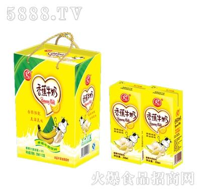雨瑞香蕉牛奶250mlx12盒