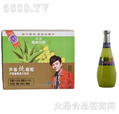 雨瑞芦荟炖葡萄1.5LX6瓶