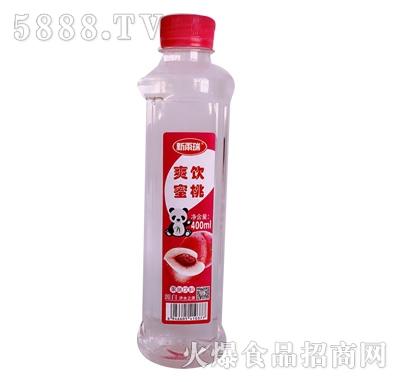 新雨瑞爽饮蜜桃果味苏打水400ml