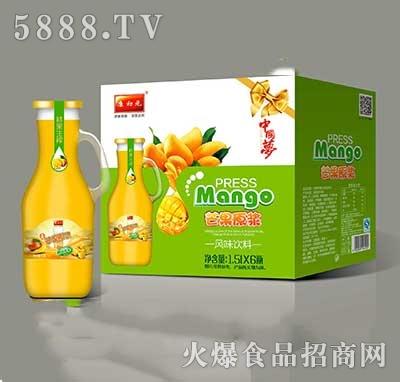 康初元鲜果生榨芒果汁瓶装1.5lx6