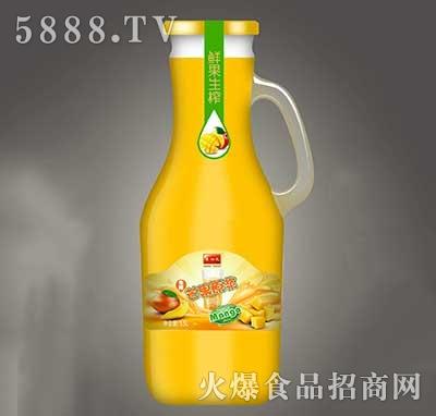 鲜果生榨芒果汁瓶装