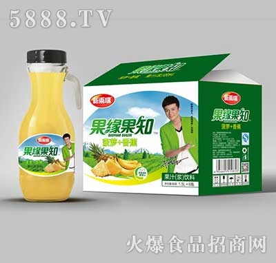 新雨瑞果缘果知菠萝+香蕉果汁饮料