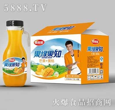 新雨瑞果缘果知芒果+黄桃果汁饮料