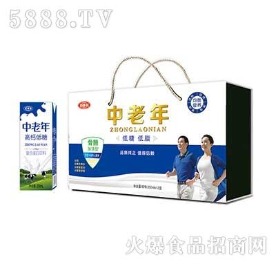 百事利中老年低糖低脂蛋白饮品(木盒)250mlx12盒