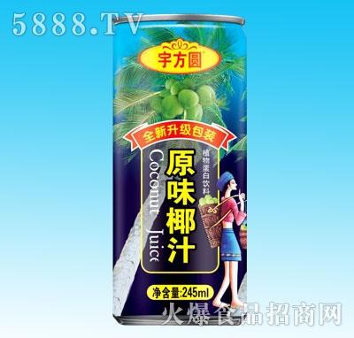 宇方圆原味椰汁245ml(罐)