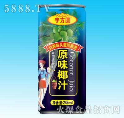 宇方圆原味椰汁245ml