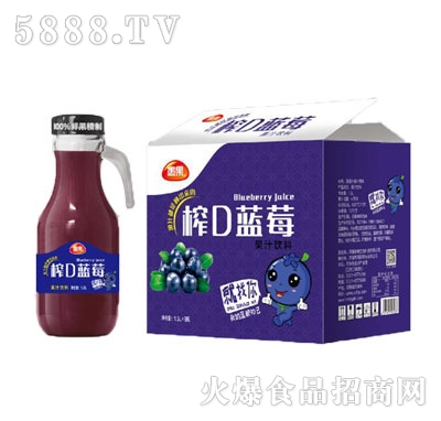 愚果榨D蓝莓果汁饮料1.5LX6瓶