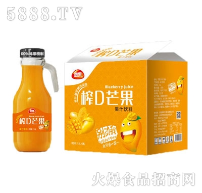 愚果榨D芒果果汁饮料1.5LX6瓶