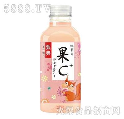甄典桃果肉果汁饮料500ML