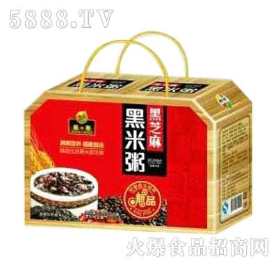 椰田黑米黑芝麻粥
