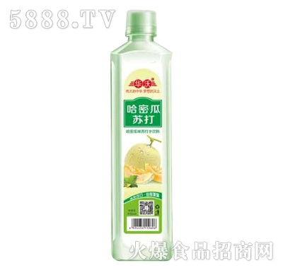 华沃哈密瓜味苏打水饮料420ml