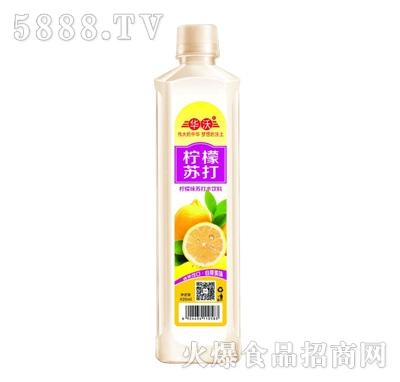 华沃柠檬味苏打水饮料420ml
