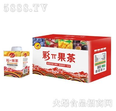 彩π果茶芒果茶饮料300mlX15盒