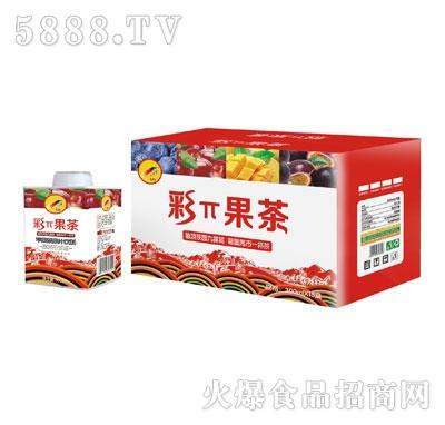 彩π果茶苹果茶饮料300mlX15盒