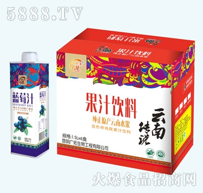 大马邦蓝莓汁1.5Lx6盒