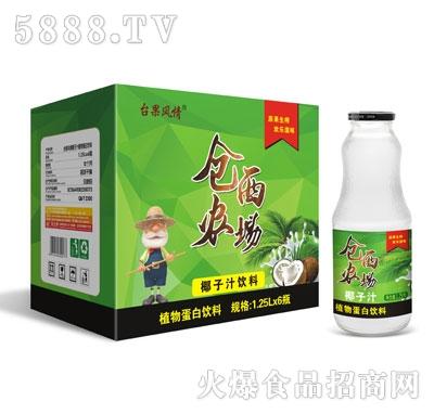 仓西农场椰子汁饮料1.25LX6瓶