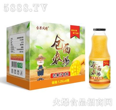 仓西农场芒果汁饮料1.25LX6瓶