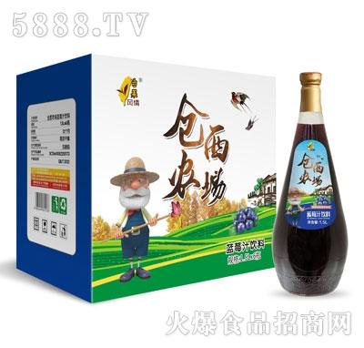 仓西农场蓝莓汁1.5LX6