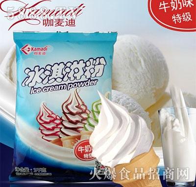 咖麦迪牛奶味特级冰淇淋硬冰激凌甜筒1000g产品图