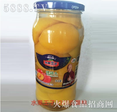水果王子黄桃罐头1018g