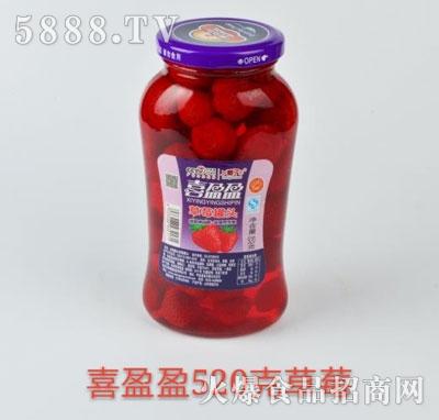 喜盈盈草莓罐头520g