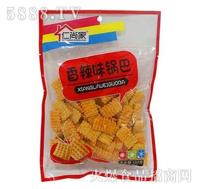 仁尚家香辣味锅巴休闲食品155g袋装