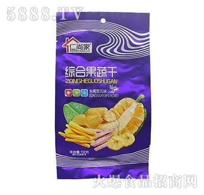 仁尚家综合果蔬干休闲食品102g袋装产品图