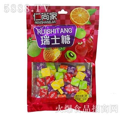 仁尚家瑞士糖混合水果味180g袋装