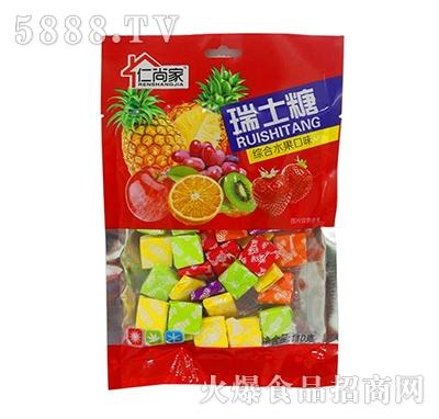 仁尚家瑞士糖综合水果口味糖果110g袋装
