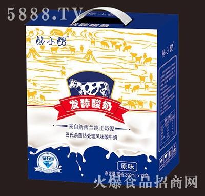 熊小酪发酵酸奶原味200mlx12盒
