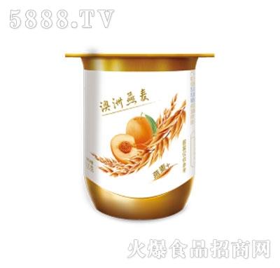蒙牛冠益乳圆周杯燕麦黄桃