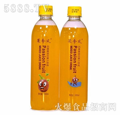 果季风百香果混合果汁500ml
