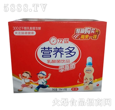 华援营养多乳酸菌饮品200mlx20瓶