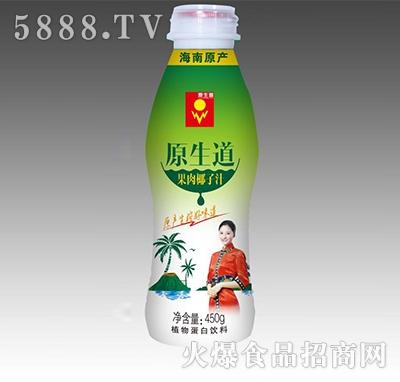 原生道果肉椰子汁450g