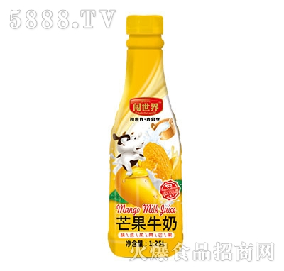 闯世界芒果牛奶1.25L