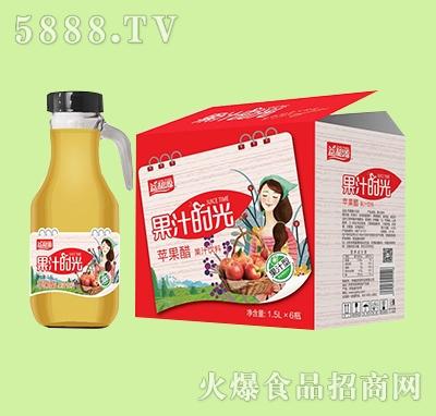 益和源果汁时光苹果醋果汁饮料1.5Lx6