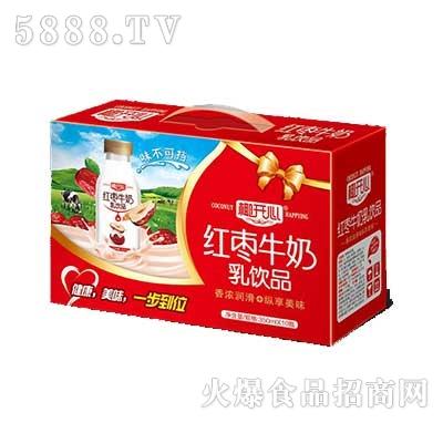 椰开心红枣牛奶饮品