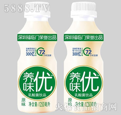 养味优乳酸菌饮品原味1250ml