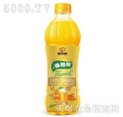瑞乐康果粒橙果汁饮料500ml