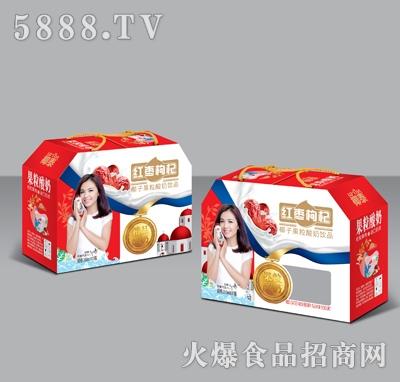 350mlX10椰泰果粒酸奶红枣枸杞礼盒