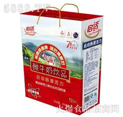 启活酸牛奶250MLX12瓶利乐砖礼盒装