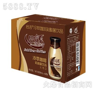 启活-冷萃咖啡乳酸菌1X6玻璃瓶装