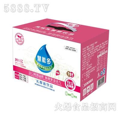 慧能多340ml1元乐享草莓味乳酸菌箱装