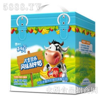 蒙牛未来星儿童营养酸牛奶(香蕉草莓燕麦)200gx12盒